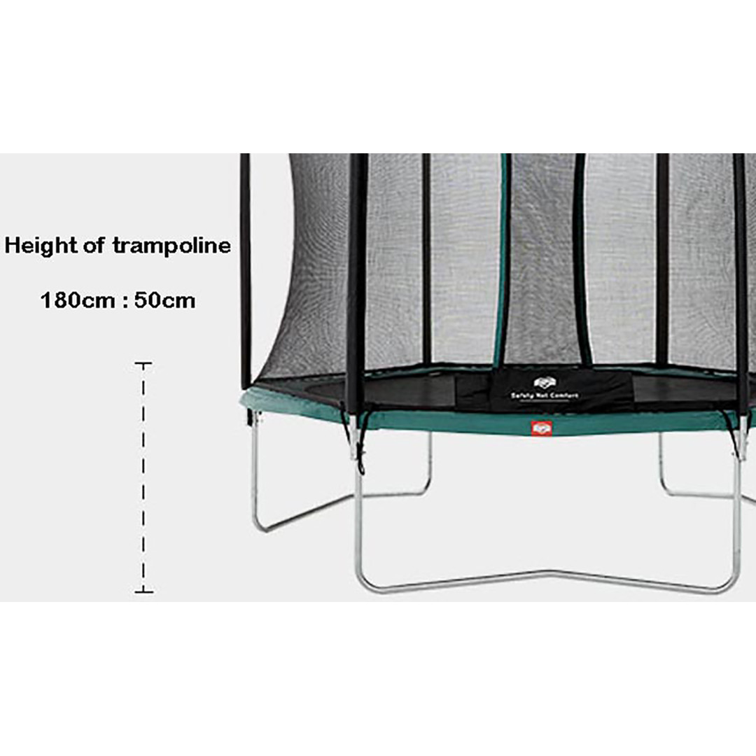 Berg Talent 180 + Safety Net Comfort 6ft Trampoline