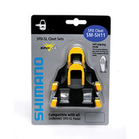 Shimano SM-SH11 SPD SL Cleats, Centre Pivot Floating Yellow - Eurocycles