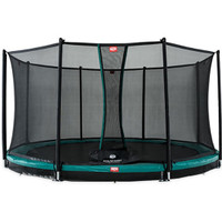 Berg Favorit 380 Green + Safety Net Comfort Inground Trampoline (12ft)  - Eurocycles