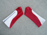White/Red Combo Leather Arm Chaps