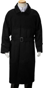 Boy's Black Trench Coat