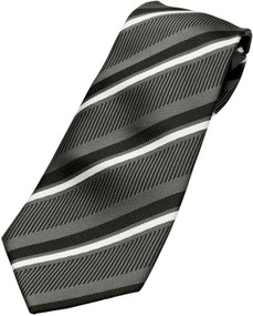 Boy's Black-Grey Zipper Tie