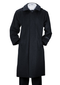 De Valoure Boy's Wool Dress Coat Plaid Hood - Navy Blue