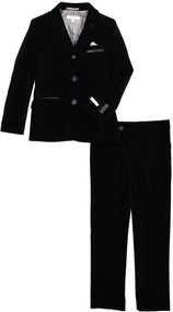 Isaac Mizrahi Boys Velvet Suit 3 Piece - Black