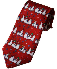 """Boy's Red Holiday Themed Clip-On Tie 14"""""""