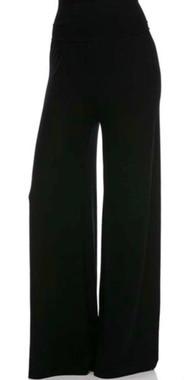 Flowy Knit Wide Leg High Waist Pilazzo Pants