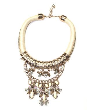Cream & Gold Necklace