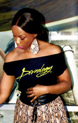 "Our Signature ""Divaology"" T-shirt printed in Vinyl or Foil available in Fitted, Crew, V-Neck, Cut Out, One Shoulder or Off Shoulder.  T-shirt Options Black, White, Gray or Pink.  Print Options Black, White, Gold, Silver, Pink, Lavender, Green, Blue, Neon  (Enter Fitted or Regular, Shirt Color, Print Color in Comments)"