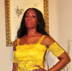 Golden Yellow Lace Off the Shoulder Bodysuit with Removable Bandage Straps.