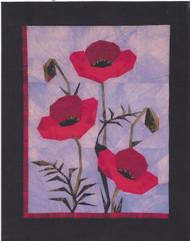 Poppies Paper Piecing Quilt