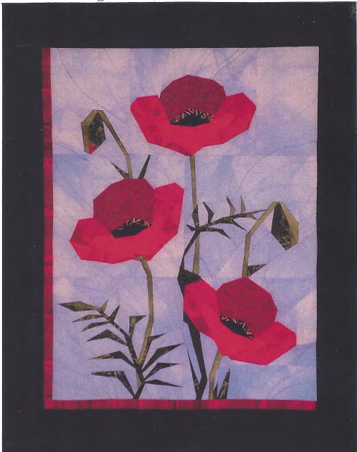 Poppies Paper Piecing Quilt