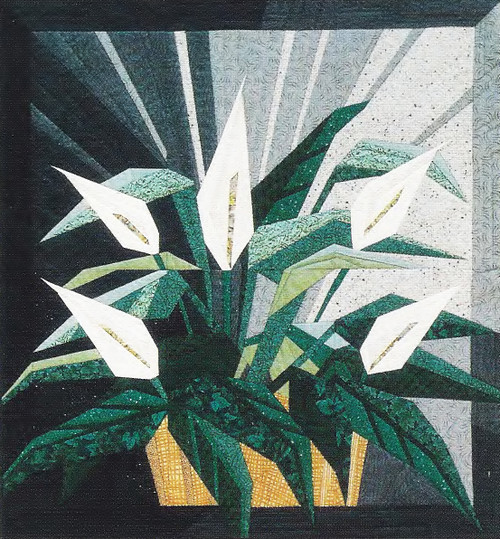 Peace Lily Paper Piecing Quilt