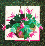 Christmas Cactus Paper Piecing Quilt