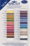 King Tut Thread Color Chart