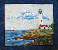 """Lighthouse - NEW Form of Foundation Paper Piecing (Picture Piecing) Pattern - 33 1/4"""" x 29"""" Quilt Block"""