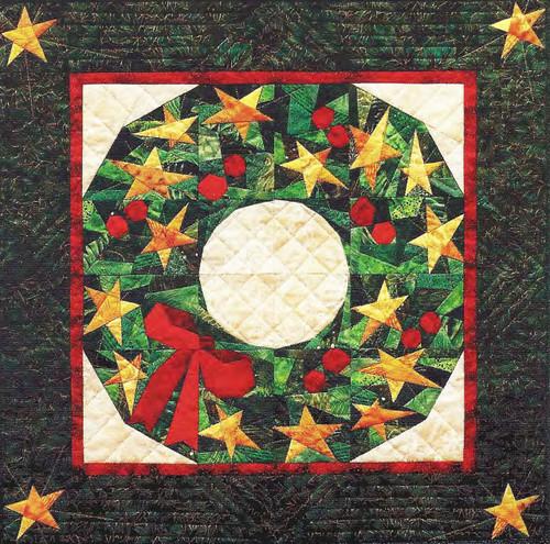 Starlit Wreath Paper Piecing Quilt