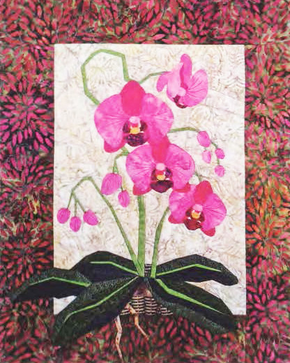 Phalaenopsis Foundation Paper Piecing Pattern 20 X 25 Quilt