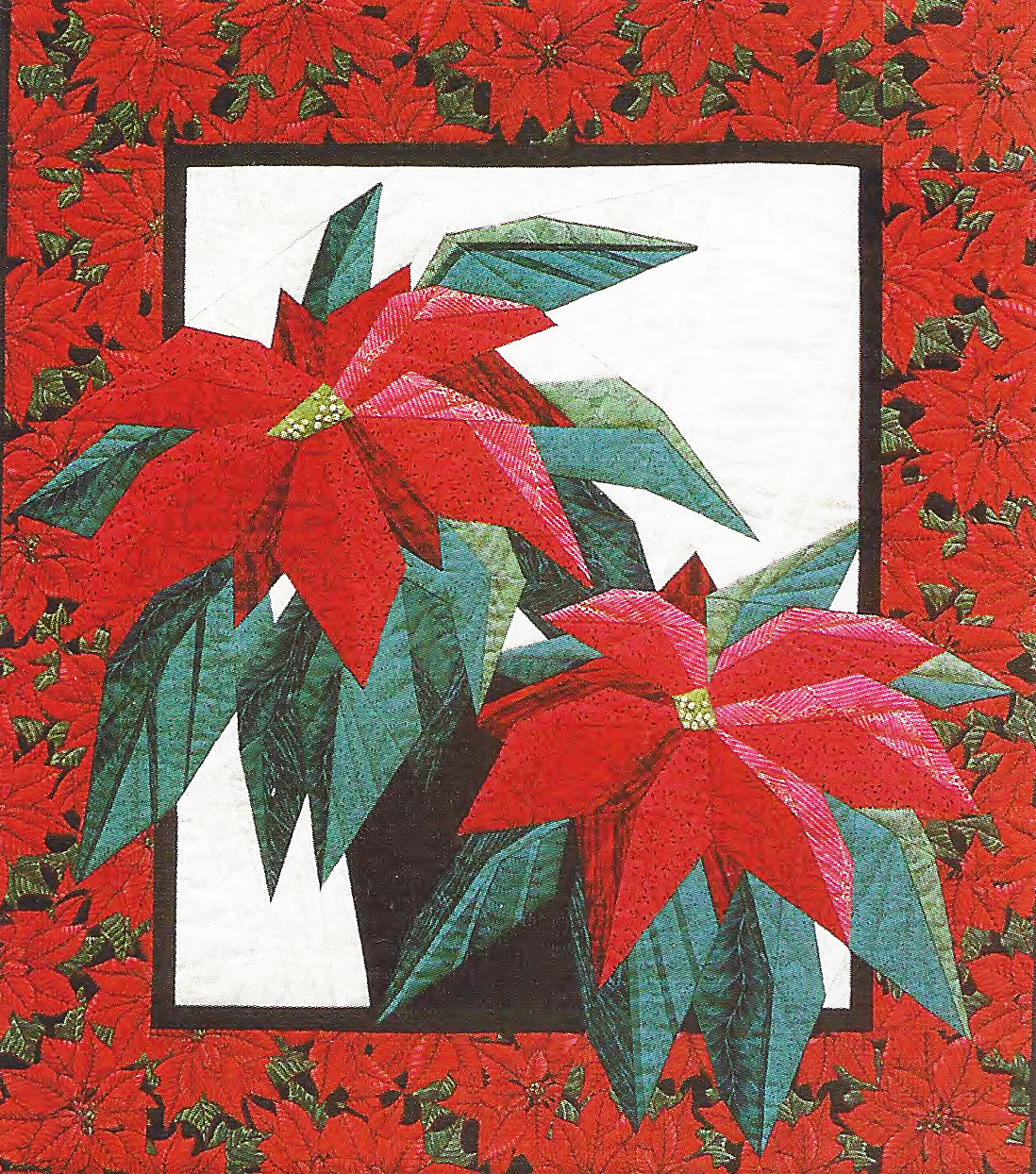 Poinsettia Foundation Paper Piecing Pattern 23 X 26 Quilt Block Paperpiecedquilting Com