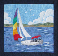 Sailing Away Picture Piecing Quilt