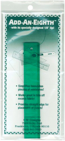 "Add-An-Eighth 6"" Green Paper Piecing Ruler"