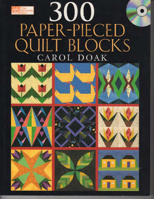 300 Paper-Pieced Quilt Blocks Front Cover