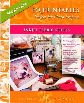 graphic about Printable Fabric Sheets for Quilting named EQ Printables - Suitable for Picture Jobs - Inkjet Cloth Sheets - 6 Sheets 8.5\
