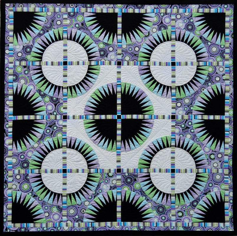 Foundation Paper Piecing By Becolourful BRILLIANT BEAUTIES OF JOY QUILT PATTERN