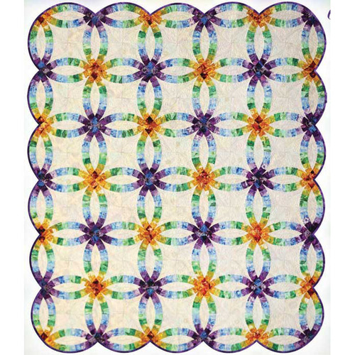Grandma's Wedding Ring Foundation Paper Piecing Quilt