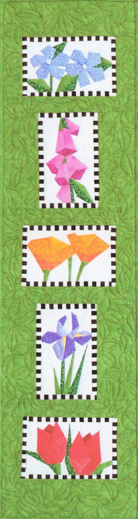 Floral Sampler Paper Piecing Quilt