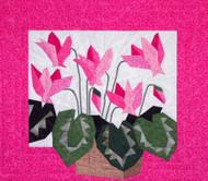 Cyclamen Paper Piecing Quilt Block