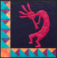 Kokopelli Quilt Block