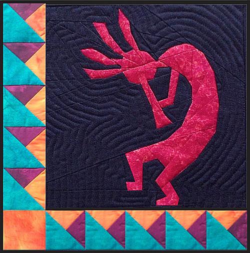 Kokopelli Quilt Block