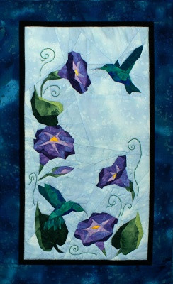 Glorious Hummingbirds Quilt Block