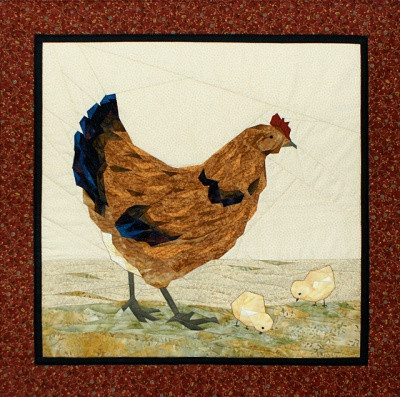 Hen n' Chicks Paper Piecing Quilt Block