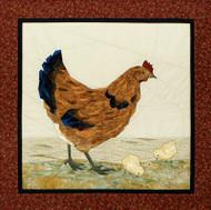 Hen n' Chicks Paper Piecing Quilt Block