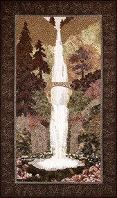 Multnomah Falls Applique Quilt