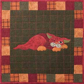 Yammy Cat Applique Block