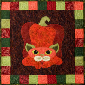 Pepper Puss Applique Block