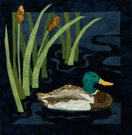 Mallard Duck Quilt Block