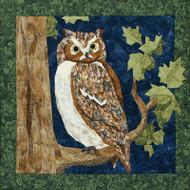 Great Horned Owl Quilt Block
