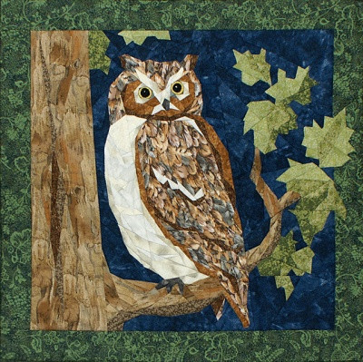 Great Horned Owl Quilt Block