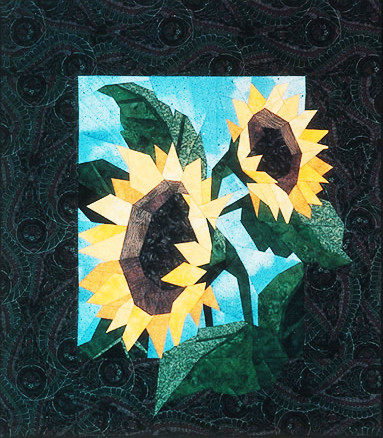 Sunflowers Paper Piecing Quilt Block