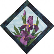 Iris Beauty Quilt Block
