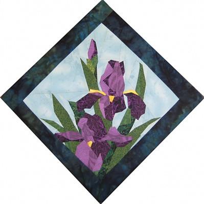 Iris Beauty Quilt Block