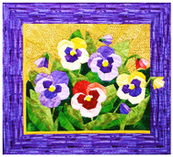 Pansy Paper Piecing Quilt