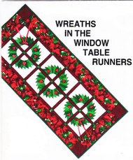 Wreaths in the Window Paper Piecing Table Runner
