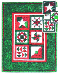 Holiday Mini-Quilt and Ornaments Paper Piecing Quilt