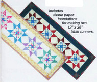 Odd Fellow's Star Paper Piecing Table Runners