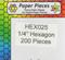 """HEX025 - 1/4"""" English Paper Piecing Hexagons"""