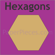 English Paper Piecing Hexagons